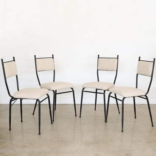 Italian Black Iron Chairs