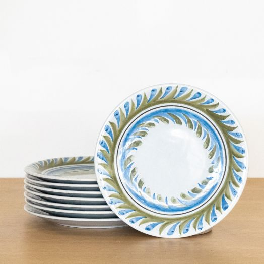 Set of 8 Roger Capron Painted Plates