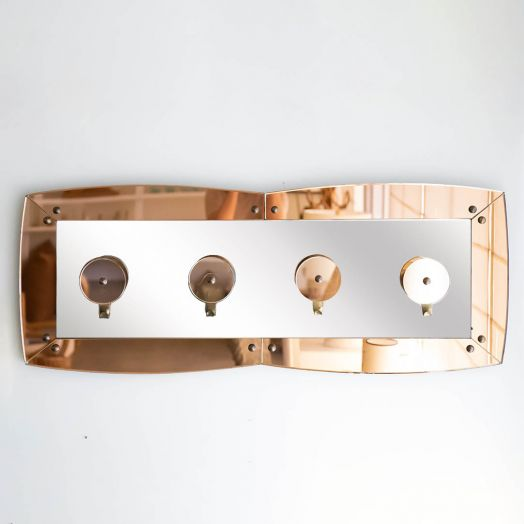 1960's Italian Amber Glass Coat Rack