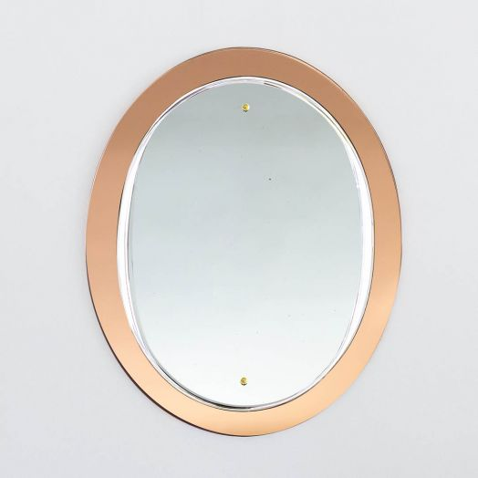 Italian Amber Glass Mirror