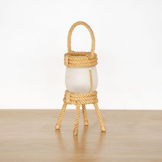 Rope Lantern Lamp by Audoux Minet