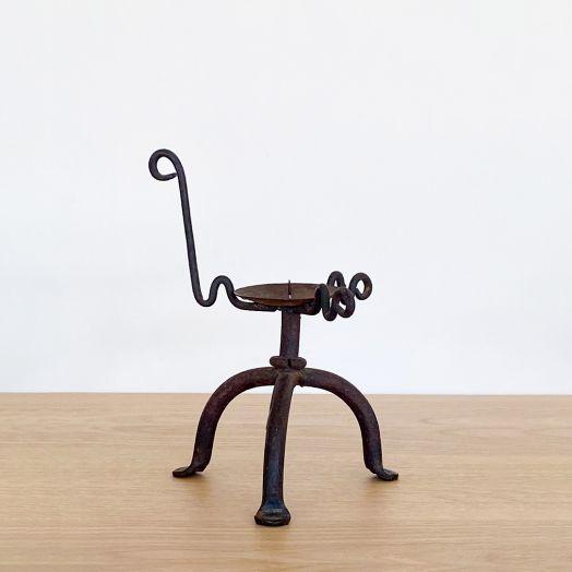 Black Iron Candlestick Holder