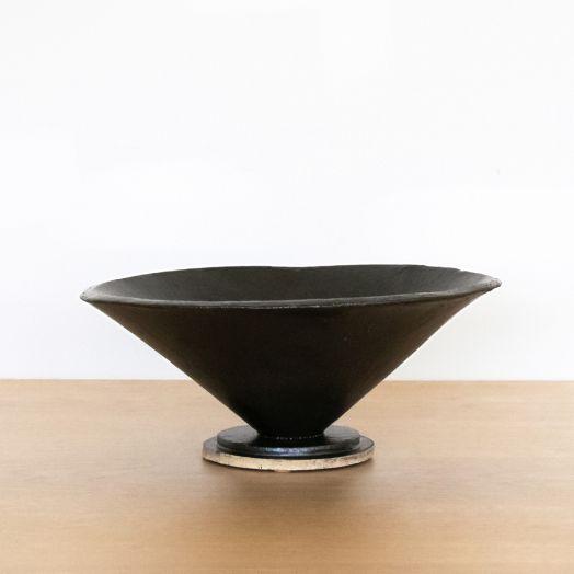 Ceramic Cone Bowl, Black