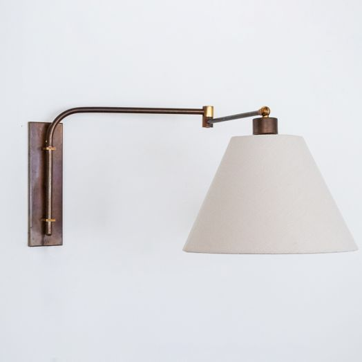French Brass Swing Arm Wall Sconce
