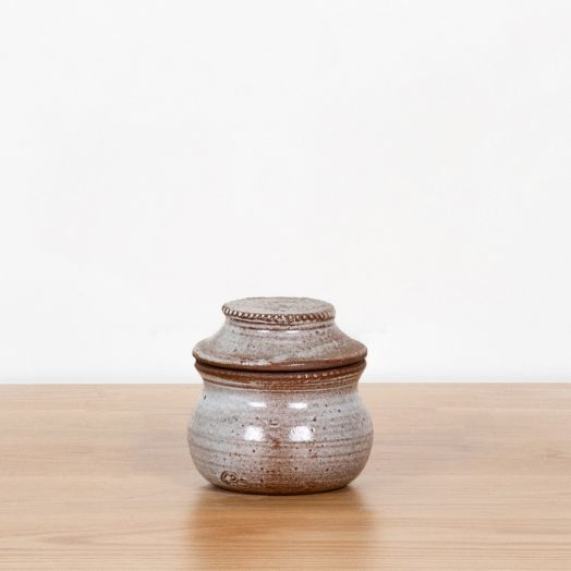 French Ceramic Mini Jar with Lid