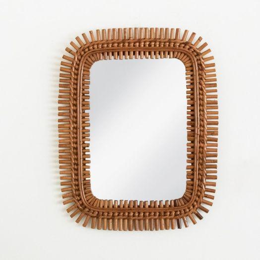 Italian Rattan Mirror