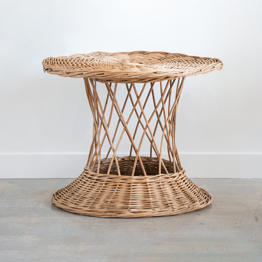 Large French Wicker Table