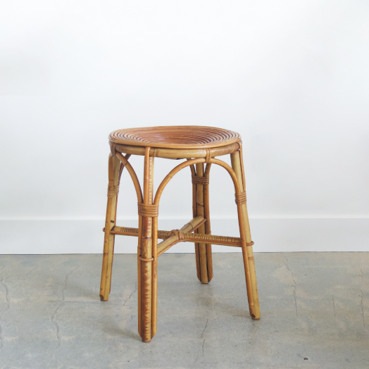 French Rattan Stool