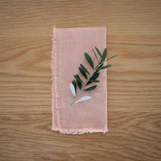 Linen Napkins, Salmon