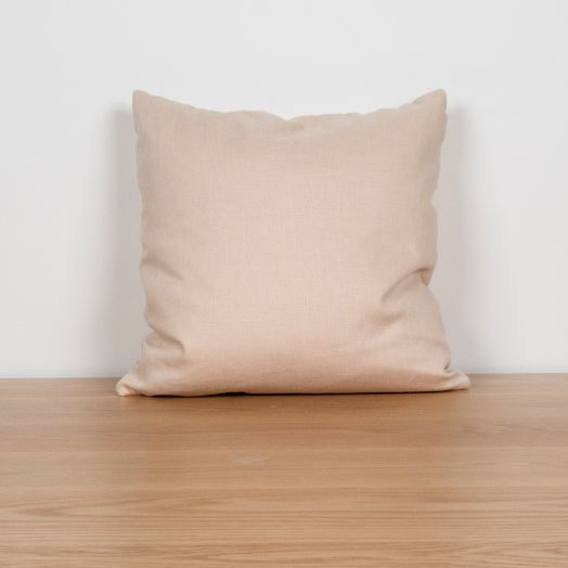 "Linen Pillow 16"", Ecru"