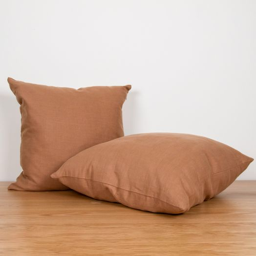 "Linen Pillow 16"", Clay"
