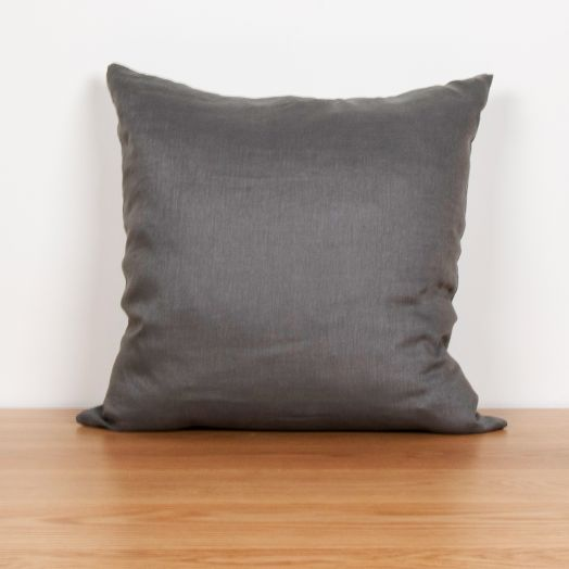 "Linen Pillow 24"", Gray"