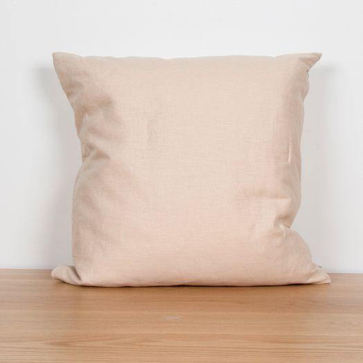 """Linen Pillow 24"""", Ecru"""