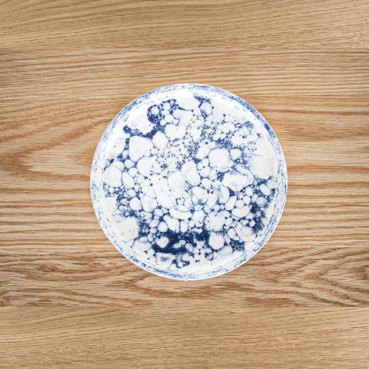 Ceramic Bubble Glaze Plate, Small