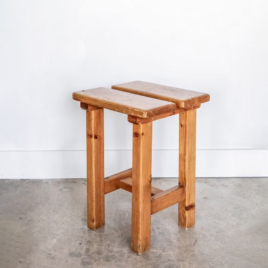 French Pine Stool in the Style of Charlotte Perriand - ON HOLD