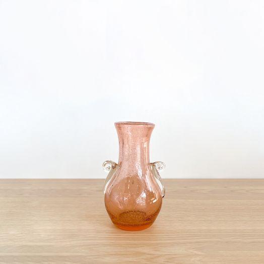 Petite Murano Pink Glass Vase