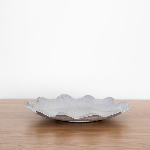 Ceramic Scalloped Platter