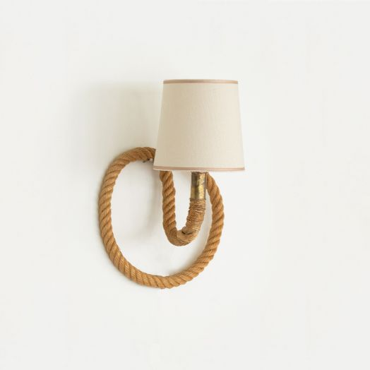 French Rope Sconce by Audoux Minet
