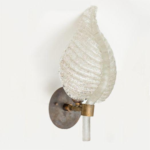 Barovier Glass Leaf Sconce