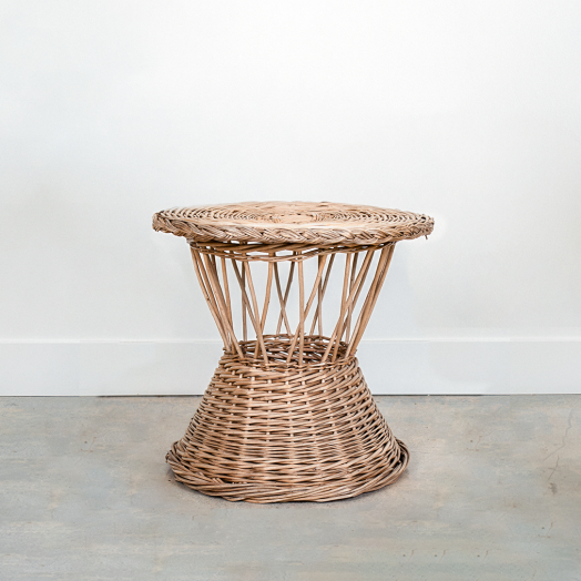 French Wicker Side Table #2