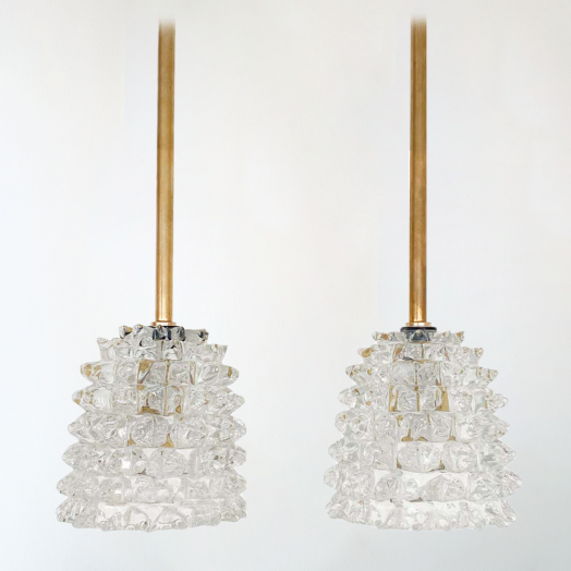 Italian Barovier Glass Pendant Light