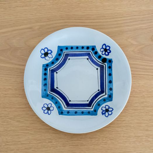 Roger Capron Plate with Flower Motif