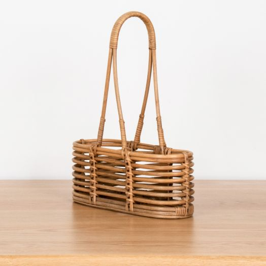 French Rattan Bottle Holder