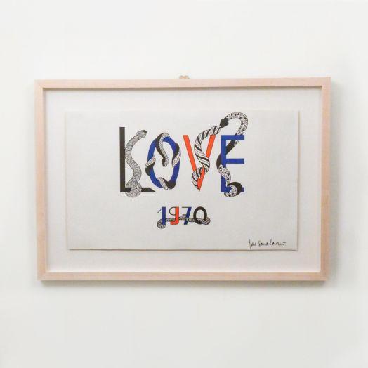 Yves Saint Laurent Love Poster, 1970