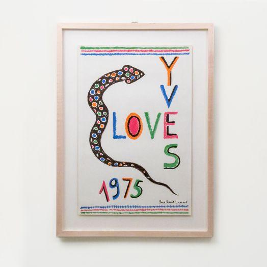 Yves Saint Laurent Love Poster, 1975