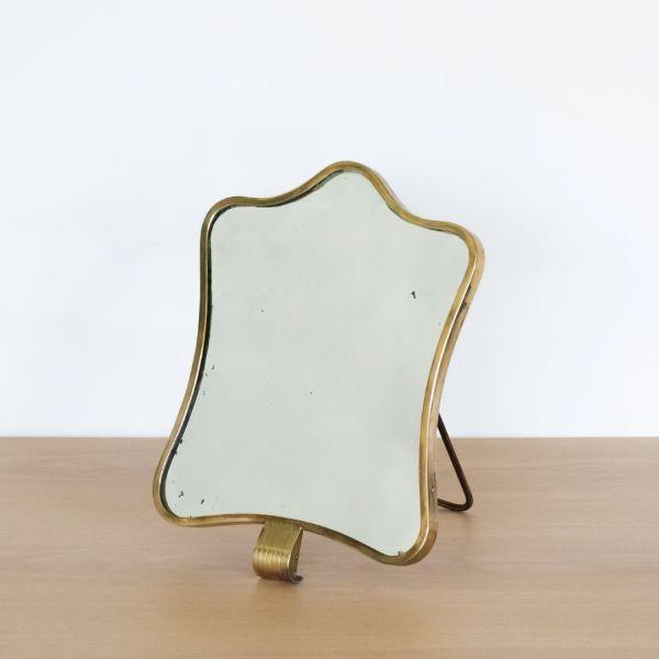 1950s Italian Brass Vanity Mirror by Barovier & Toso