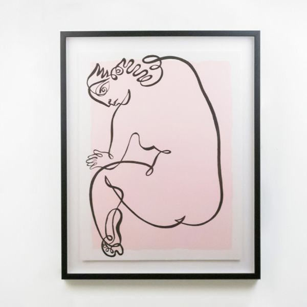 Jean Negulesco Continuous Line Drawing
