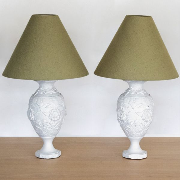 Decorative French Painted Table Lamps